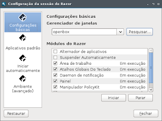 Razor Qt com openbox