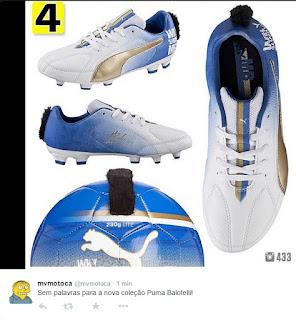 f76ad845b4 A Puma mostrou criatividade ao lançar a nova linha de chuteiras assinada  pelo atacante Mario Balotelli. O modelo elaborado em homenagem ao atacante  do ...