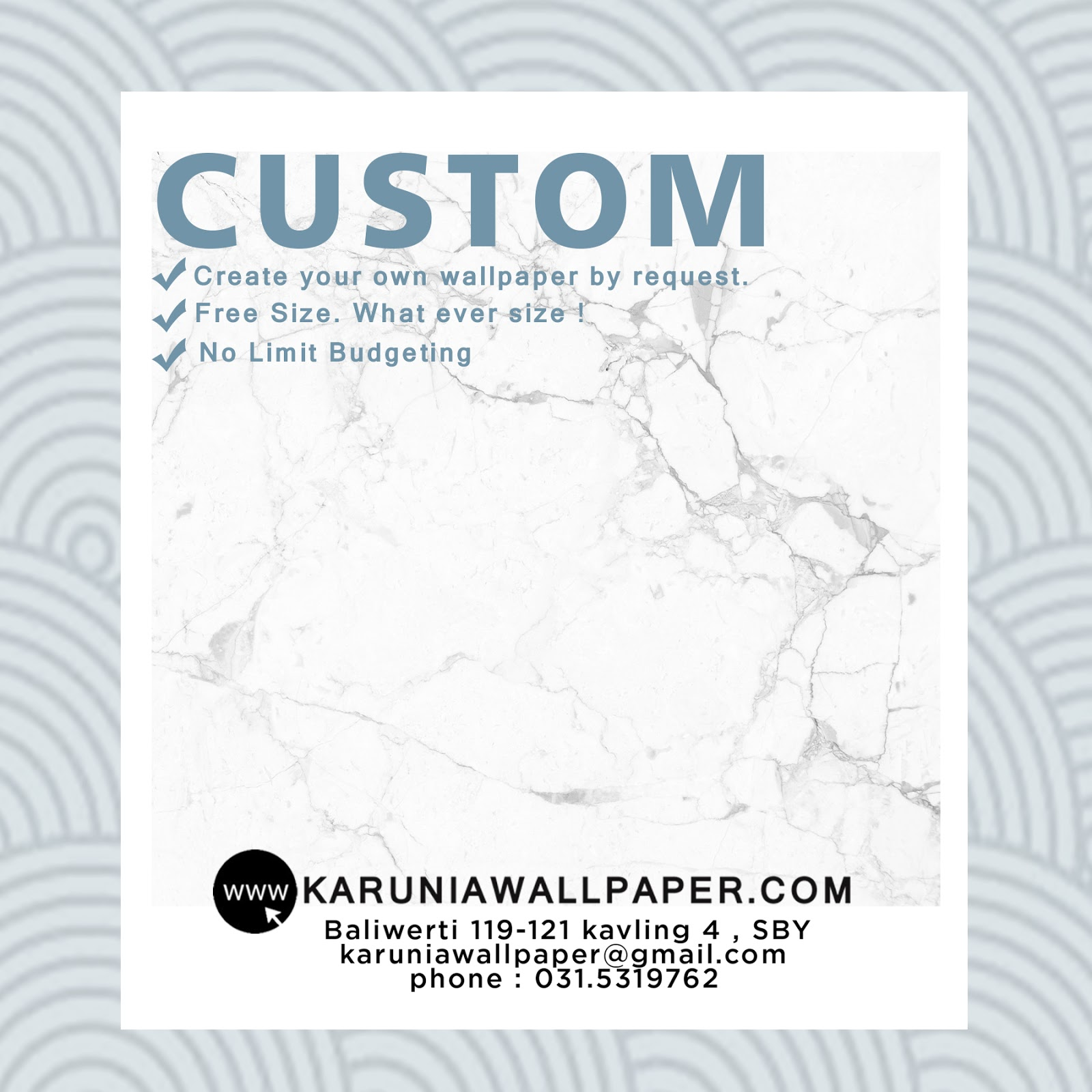 jual wallpaper custom surabaya