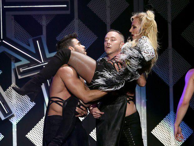 Britney Spears in concert in Los Angeles