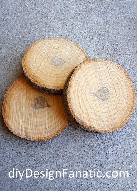 wood rounds, mountain cottage, trees, cottage, cottage style, farmhouse, farmhouse style, diy, diyDesignFanatic.com