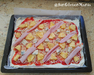 PIZZA HAWAIANA SIN GLUTEN