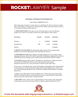business contract example