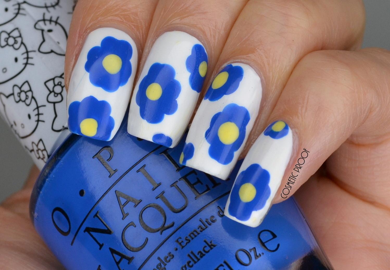 Nails marimekko inspired blue flowers manimonday cosmetic proof marimekko blue flower nail art solutioingenieria Choice Image
