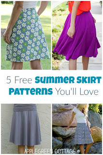 free skirt sewing patterns for women