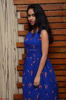 Pallavi Dora Actress in Sleeveless Blue Short dress at Prema Entha Madhuram Priyuraalu Antha Katinam teaser launch 020.jpg