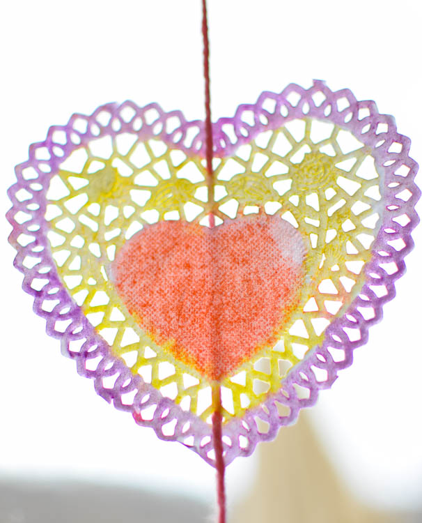 valentine suncatchers what can we do with paper and glue