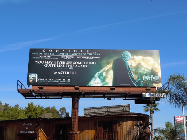 Voldemort Harry Potter movie billboard