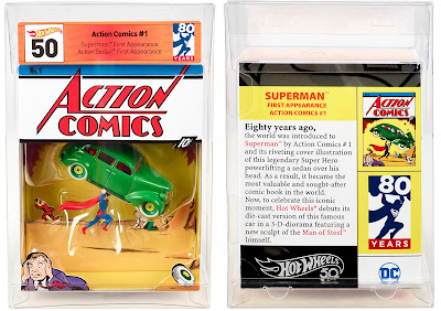 San Diego Comic-Con 2018 Exclusive DC Comics Superman Action Comics No. 1 Hot Wheels Box Set by Mattel
