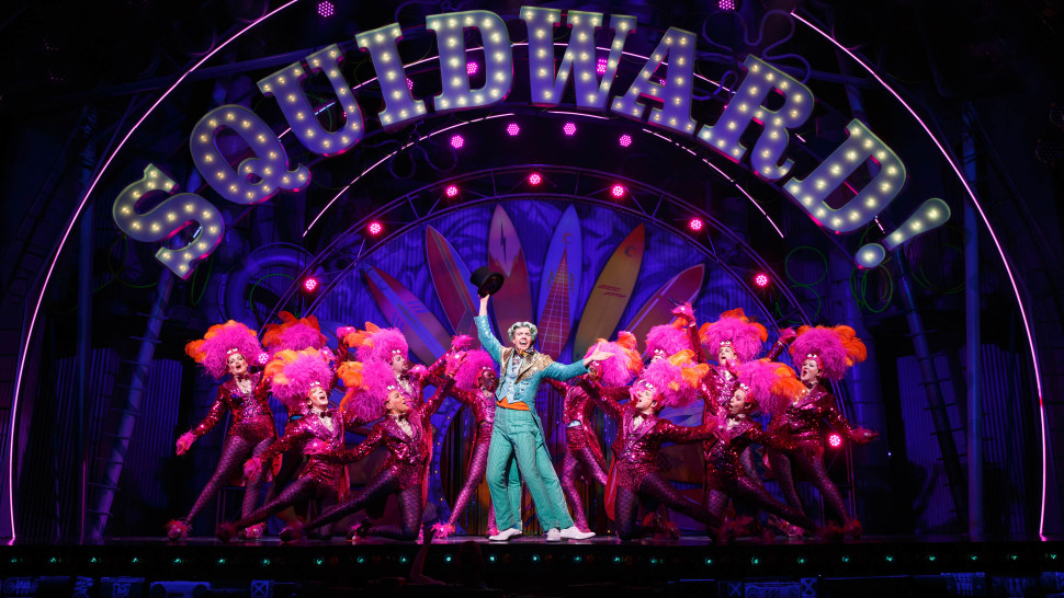 The lighting design by Kevin Adams was awesome especially during  (Just A) Simple Sponge  because the sponges were glowing. The set designed by David Zinn ... & Gunnar Goes...: to see the SpongeBob Musical