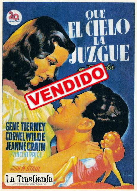 Programa de Cine - Que el Cielo la Juzgue - Cornel Wilde - Gene Tierney