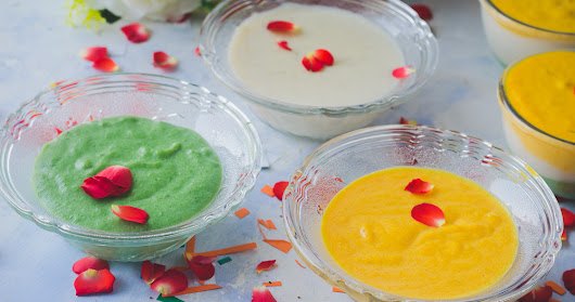 Tricolor Poha Pudding - Independence Day Dessert
