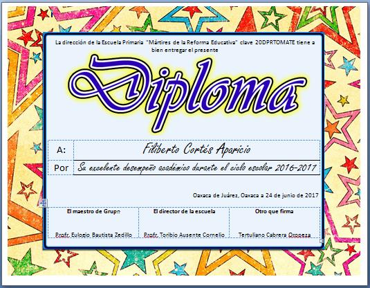 Actividades Imprimibles Para Primaria: Diplomas Para