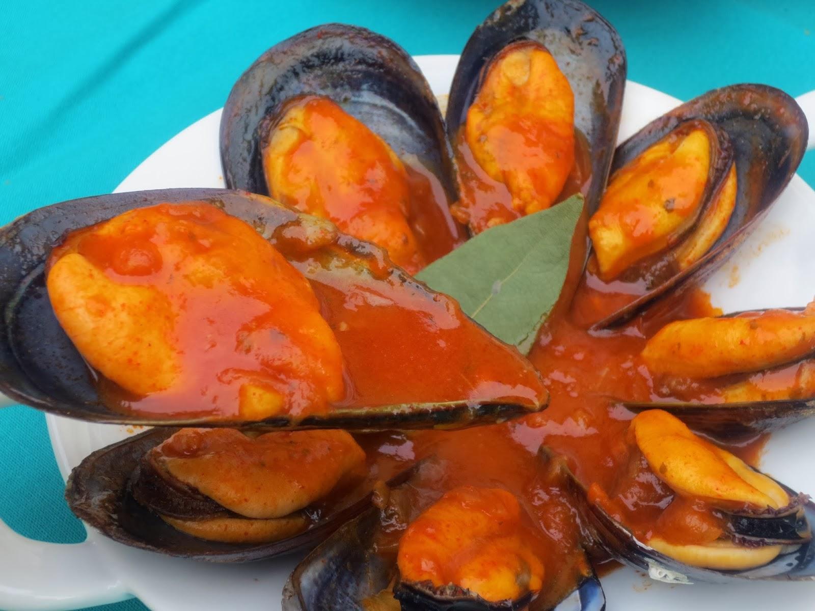 Mejillones en salsa Ana Sevilla cocina tradicional