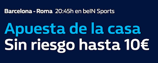 william hill Promoción 10€ Barcelona vs Roma 4 abril