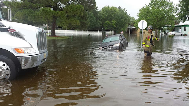 Flooded Roads In West Melbourne, Florida