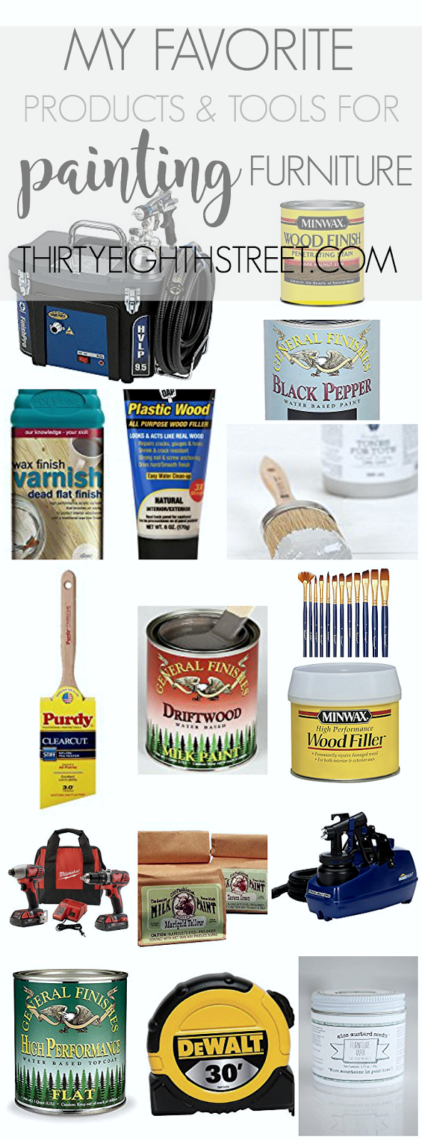 best paint, best painting supplies, popular chalk paint, best spray paint gun, best wood filler, best paint brushes