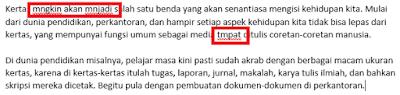 Kita yakni seorang yang sangat aktif dengan dunia internet terperinci kalau kita tidak aneh d Cara Koreksi Ejaan Kata Bahasa Indonesia di MS Word [autocorrect]