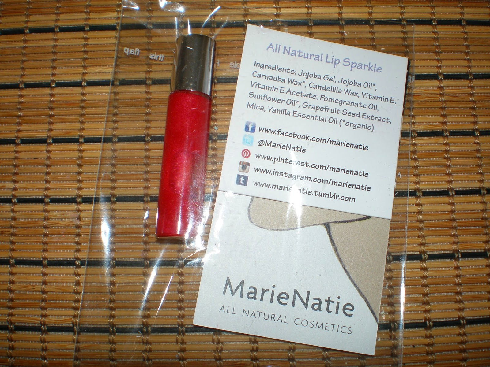 Marie Natie Marie Yang All Natural Lip Sparkle – Marie Natie Love Struck