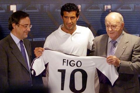 Cầu thủ Luis Figo với áo số 10