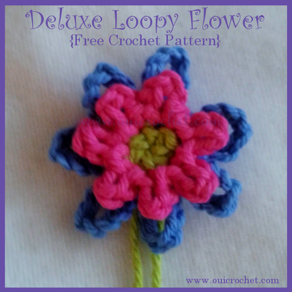 Crochet, Crochet Applique, Crochet Flower Applique, Crochet Flowers, Free Crochet Pattern, Small Loopy Flowers,