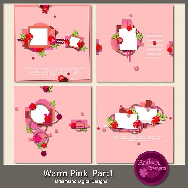 digital scraps by nona kit emportee par le vent and template warm pink 1. Black Bedroom Furniture Sets. Home Design Ideas