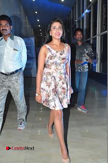 Actress Madhu Shalini Stills in Floral Short Dress at RGV Shiva to Vangaveeti Event  0190.JPG