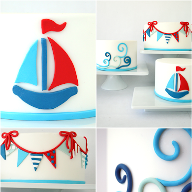 Trio of DIY Nautical Cakes Using Sugar Paste Fondant