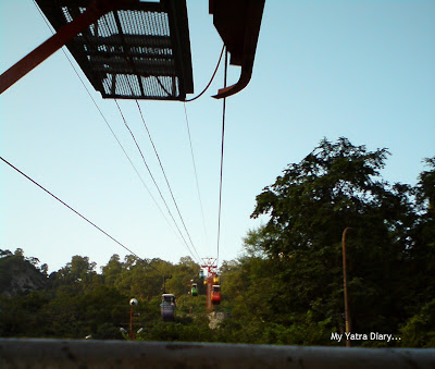 Cable car chairs all the way upto the Mansa Devi and the Chandi Devi Temples in Haridwar