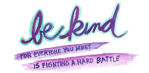 be kind for everyone you meet is fighting a hard battle quote