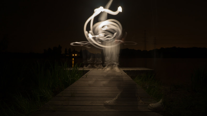 Painting with Light in this Long Exposure Photo HD