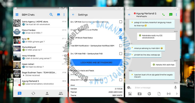 download BBM Mod Thema White Like iOS Apk by AAH