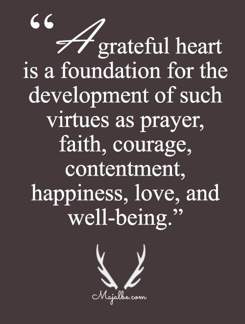 Grateful Heart Is Foundation