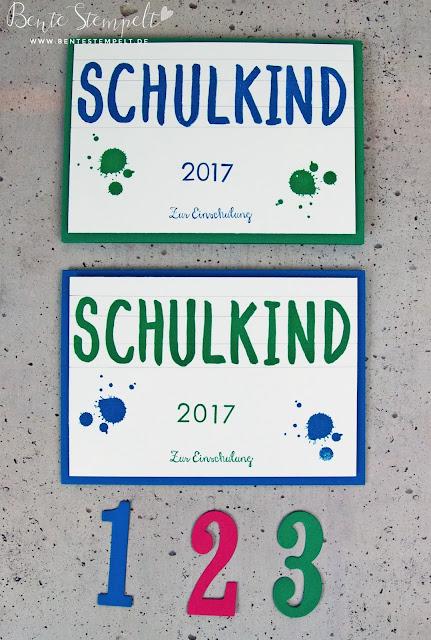 Stampin Up Karte Einschulung Schulanfang Schulbeginn für Jungen Jungskarte