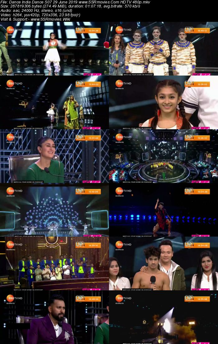 Dance India Dance S07 29 June 2019 HDTV 480p Full Show Download