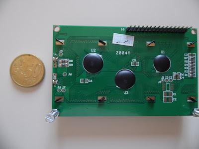 Retro del diaplay LCD 20x4 - foto di Paolo Luongo