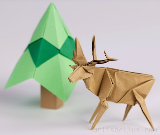 Holiday Decorations: Reindeer and Tree | Origami - Artis Bellus