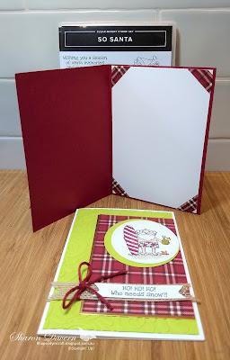 So Santa, Festive Farmhouse, Lemon-Lime Twist, Rhapsody in craft, Christmas cards, Christmas, AWH Colour Creations Blog Hop, DIY Cards