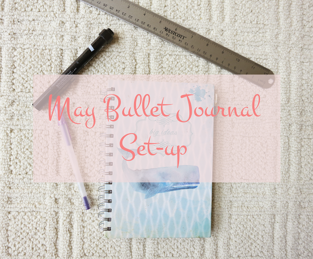 picture from May 2016 bullet journal setup post, showcasing a notebook from Marshall's