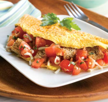 Tomato and Garlic Omelette