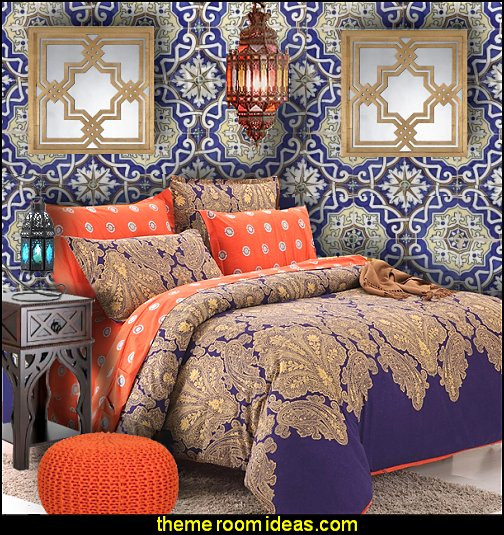 Moroccan tile Mural wall mural  Moroccan bedding Moroccan furniture