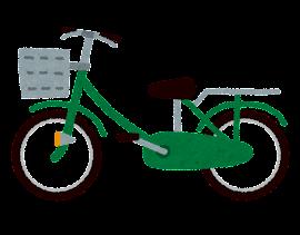 自転車のイラスト「緑」