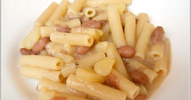 Pasta, fagioli e patate con amc