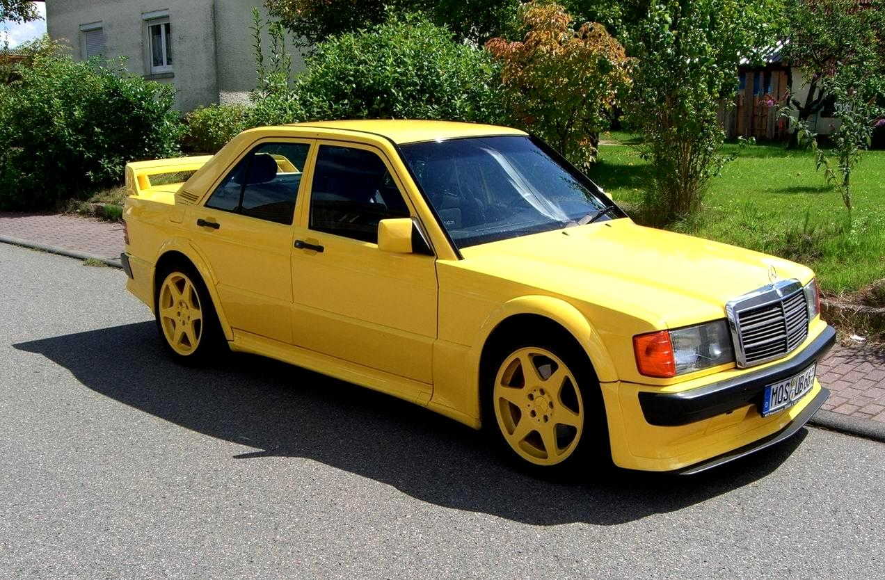 mercedes benz 190e evolution yellow w201 benztuning. Black Bedroom Furniture Sets. Home Design Ideas