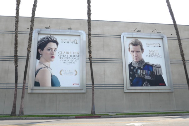 Crown season 2 Emmy nominee billboards