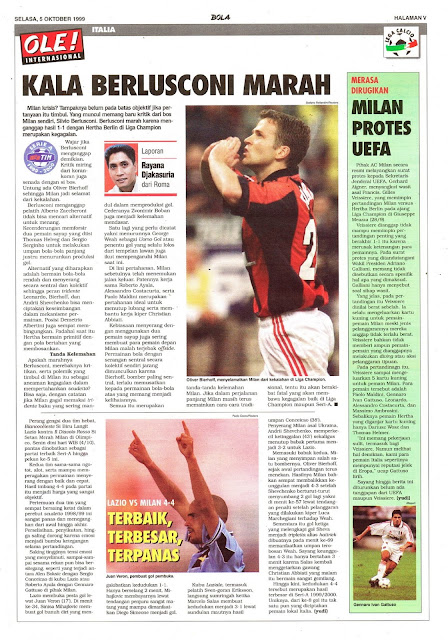 AC MILAN OLIVER BIERHOFF WHEN BERLUSCONI ANGRY