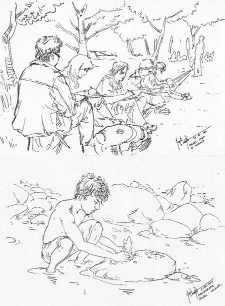 Karya sketsa mas Farid S Madjid