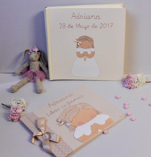 PRIMERA COMUNION LIBRO DE FIRMAS ALBUM FOTOS INFANTIL PERSONALIZADO