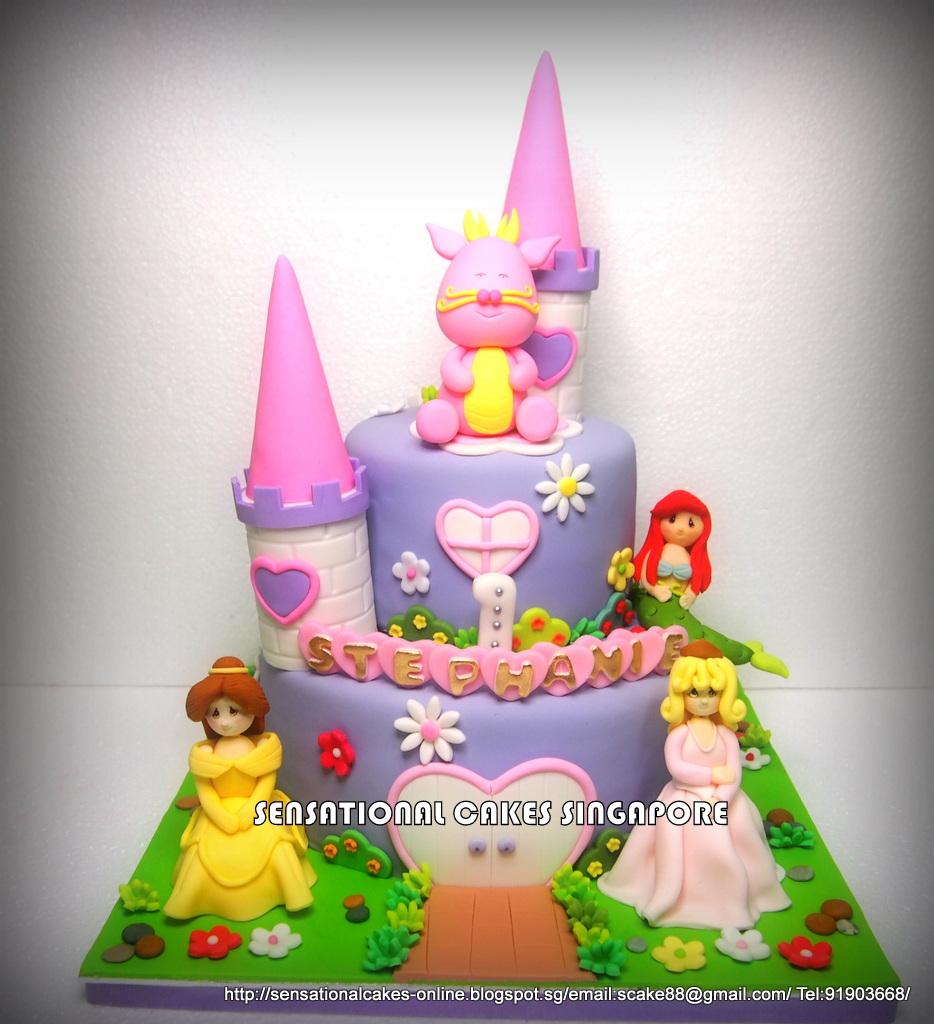 The Sensational Cakes Dragon Girl Amp Princess Castle Cake