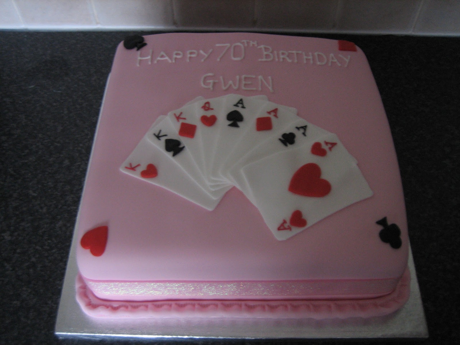 Sarah T Cakes Playing Cards Cakes